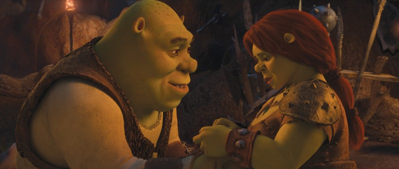 Shrek e Fiona in un'immagine del film Shrek e vissero felici e contenti