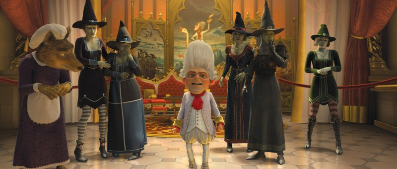 Tremotino in una scena del film Shrek e vissero felici e contenti