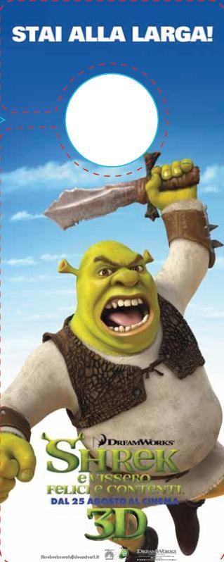 Un'immagine stampabile di Shrek per i fan più piccoli di Shrek e vissero felici e contenti