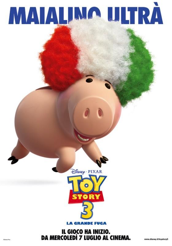 Un maialino ultrà dal film Toy Story 3 di buon auspicio per i Mondiali 2010