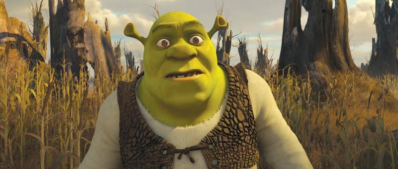 Un perplesso Shrel nel film Shrek e vissero felici e contenti