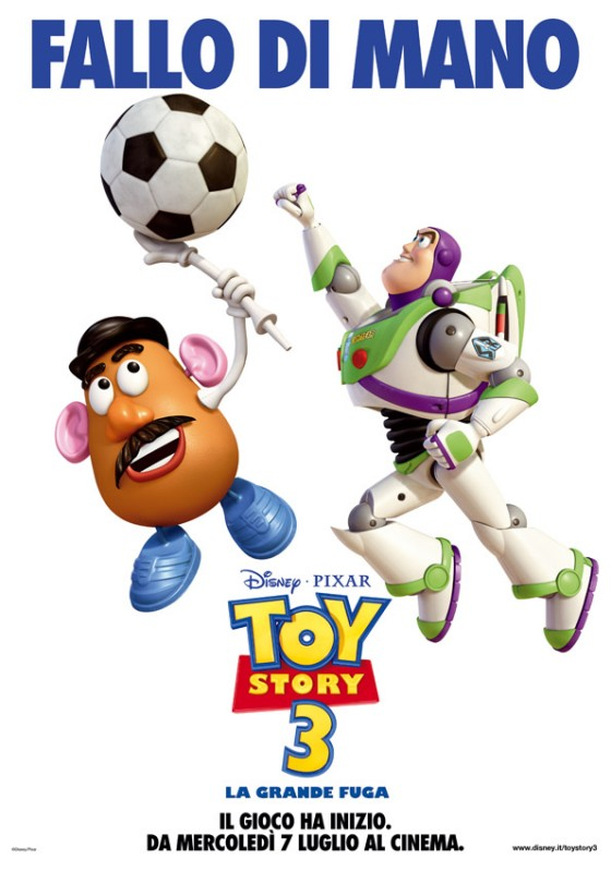 Un poster del film Toy Story 3 per i Mondiali 2010