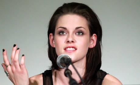 Kristen Stewart durante la presentazione di The Twilight Saga: Eclipse a Roma