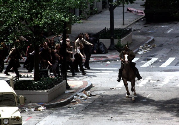 The Walking Dead: una scena della serie