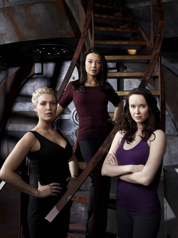 Le ragazze di Stargate Universe: Ming-Na, Alaina Kalanj e Elyse Levesque