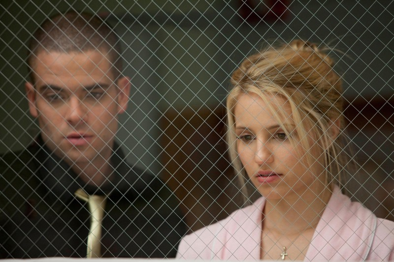 Puck (Mark Salling) e Quinn (Dianna Agron) all'ospedale nell'episodio Journey di Glee