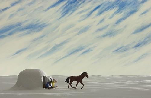 Gli inseparabili Cheval, Cowboy e Indiano nel film A Town Called Panic (2009)