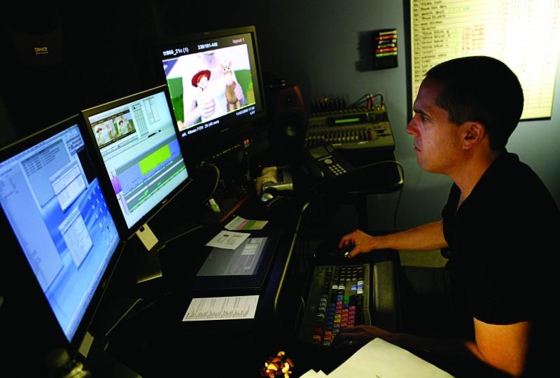 Il regista Lee Unkrich lavora al suo Toy Story 3