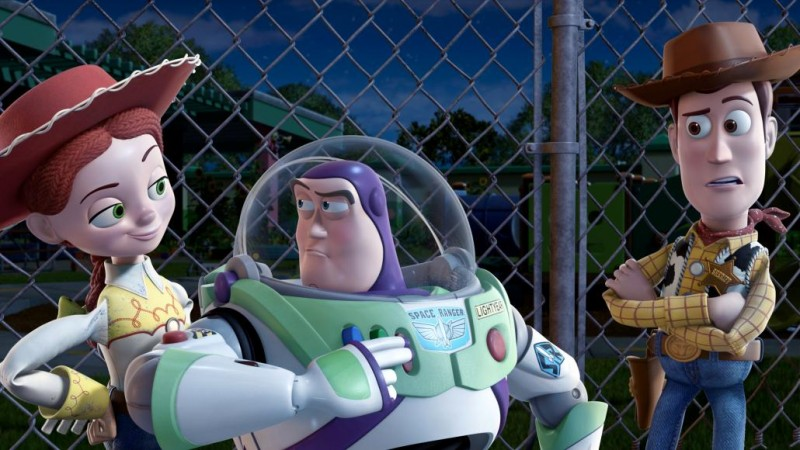 Jessie, Buzz e Woody in un'immagine del film Toy Story 3