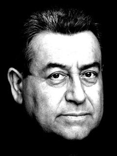 L'attore Enzo Salomone in un ritratto in bianco e nero