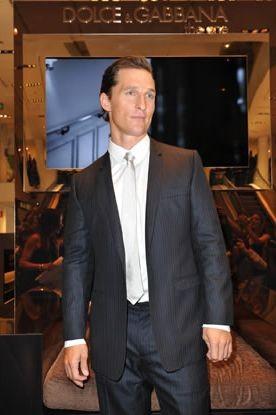 Matthew McConaughey alla celebrazione milanese dei 20 anni di moda uomo di Dolce & Gabbana