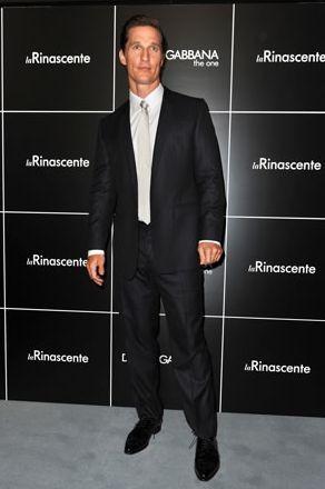 Matthew McConaughey alla celebrazione milanese dei vent'anni di moda uomo di Dolce & Gabbana