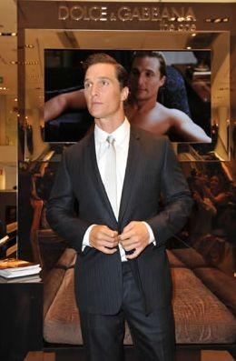 Milano, 2010: Matthew McConaughey alla celebrazione dei 20 anni di moda uomo di Dolce & Gabbana