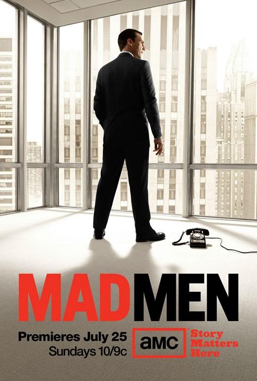 Un poster della stagione 4 di Mad Men, in onda dal 25 Luglio 2010 in USA