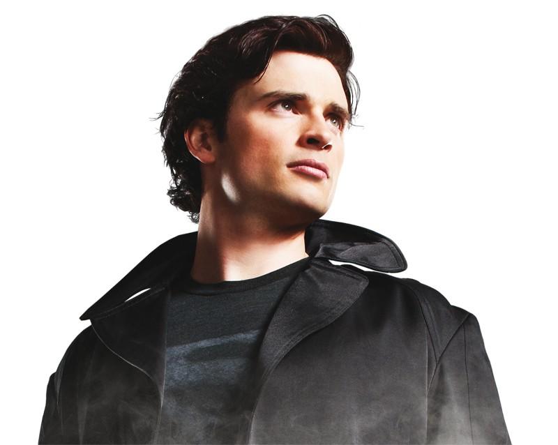 Tom Welling in un'immagine promo per la stagione 9 di Smallville