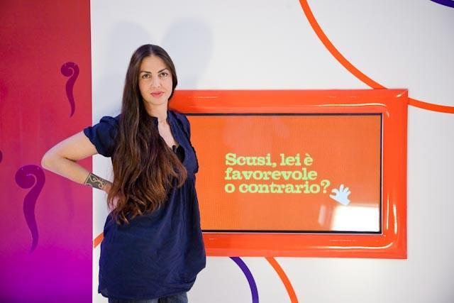 Benedetta Mazzini ospite di 'Scusi, lei è favorevole o contrario?'