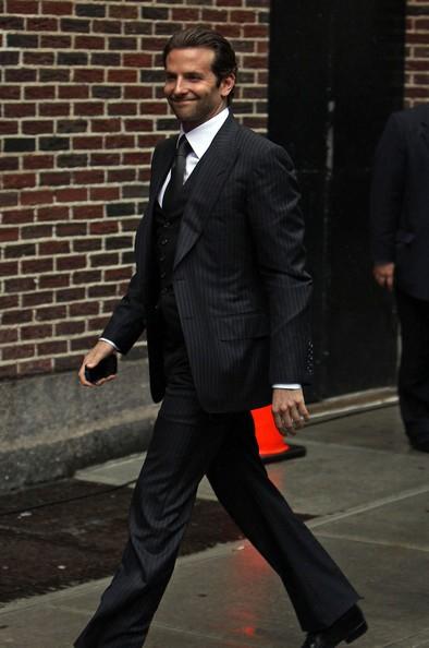 Bradley Cooper prima dello show di David Letterman al quale ha presentato A-Team, nel 2010