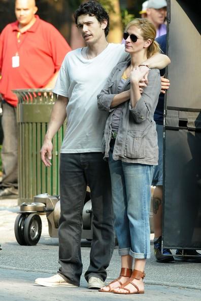 Julia Roberts durante le riprese di Eat Pray Love