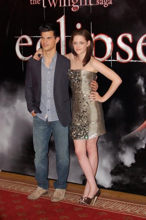 Kristen Stewart e Taylor Lautner presentano Eclipse a Stoccolma