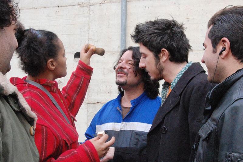 Paolo Ruffini e Lillo Petrolo sul set di Cacao, di Luca Rea