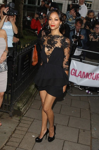 Zoe Saldana sul red carpet del Glamour Women of the Year Awards a Londra