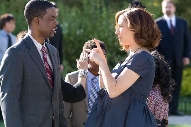 Chris Rock e Maya Rudolph nella parte dei coniugi nel film Un weekend da bamboccioni