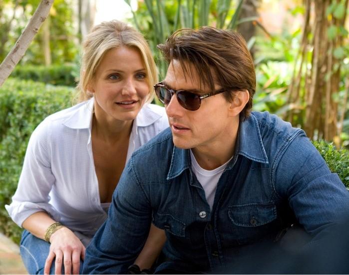 June (Cameron Diaz) e Roy (Tom Cruise) nel segno del mirino in una scena del film Innocenti bugie