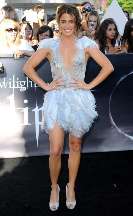 Nikki Reed in abito azzurro, alla Premiere di The Twilight Saga: Eclipse, Los Angeles, 24 giugno 2010