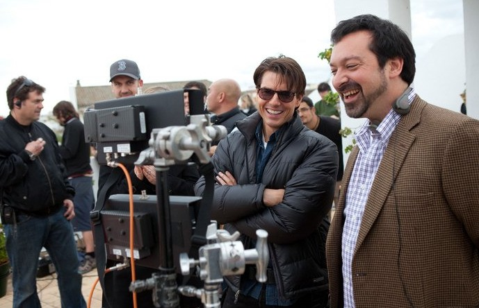 Tom Cruise e il regista James Mangold sul set del film Innocenti bugie
