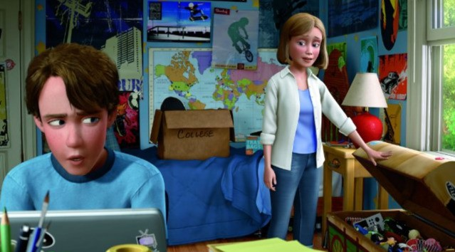 Andy si prepara al college in Toy Story 3