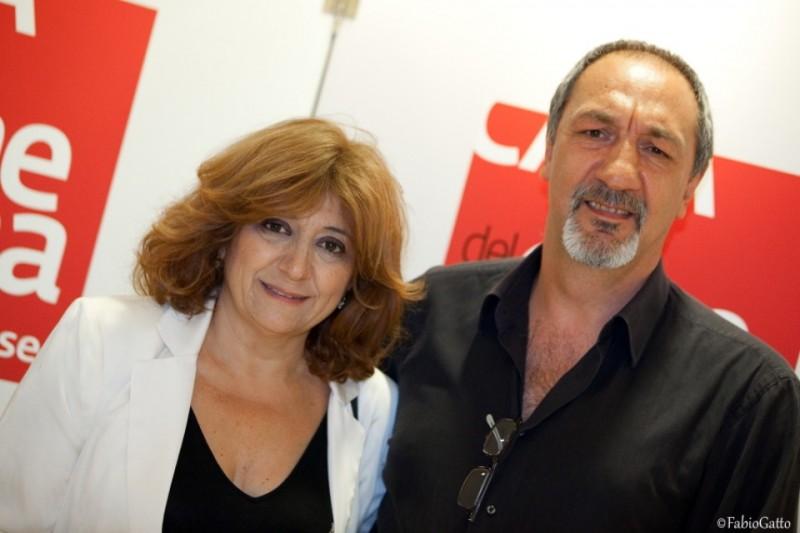 Laura Delli Colli con Enzo De Camiliis