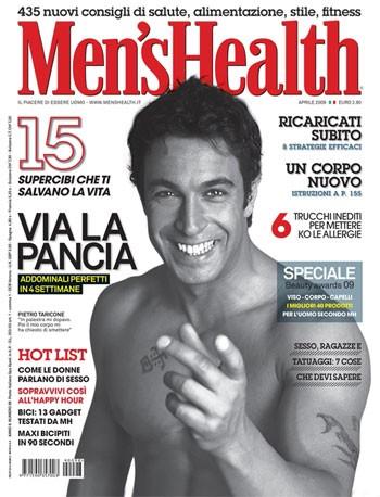 Pietro Taricone sulla cover di Men's Health.
