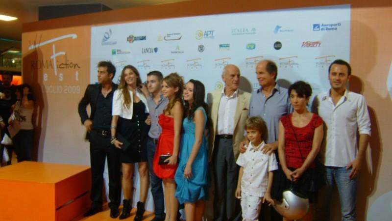 S. Montedoro, I. Spada, P. Saino, G. Arena e il piccolo Andrea Pittorino al Roma Fiction Fest 2009