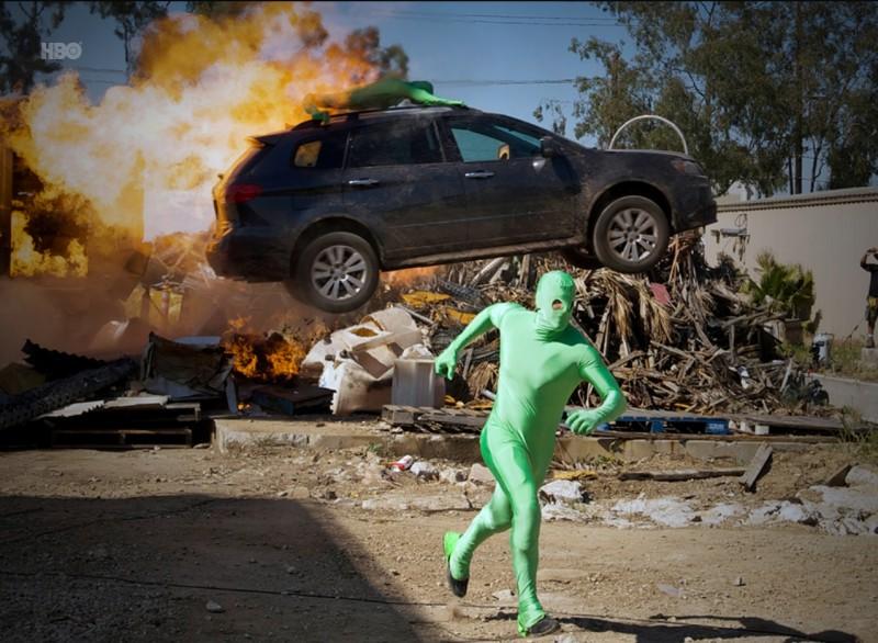 Una scena dell'episodio Stunted di Entourage
