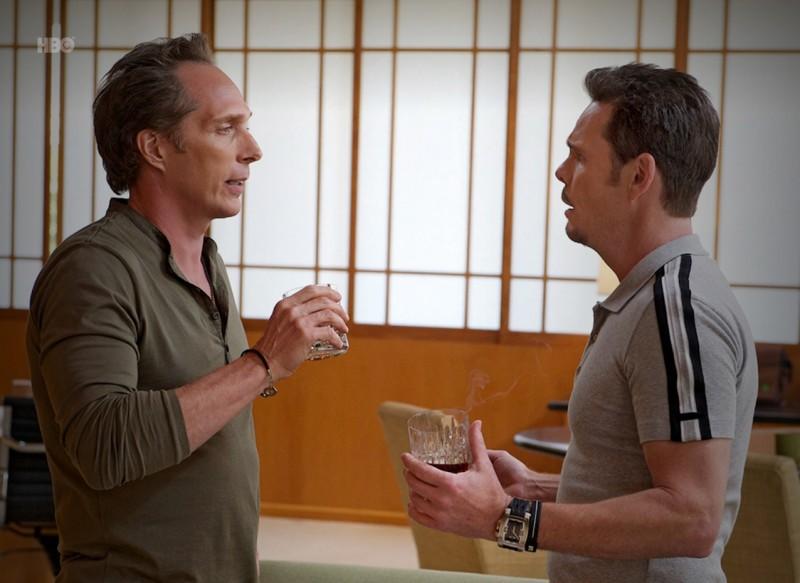 William Fichtner e Kevin Dillon in una scena dell'episodio Stunted di Entourage