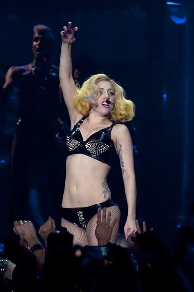 Lady Gaga durante una performance