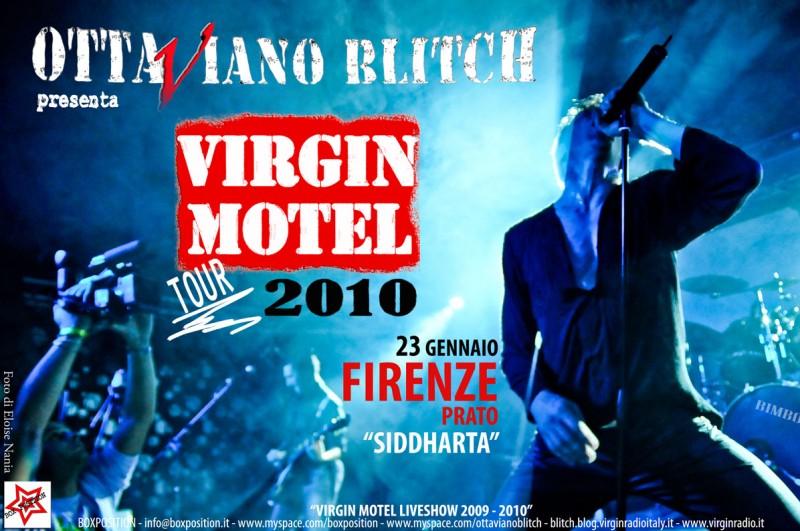 Ottaviano Blitch in un\'immagine pubblicitaria del suo tour con i Virgin Motel
