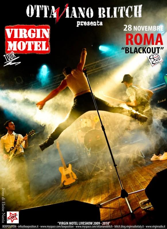 Ottaviano Blitch in un'immagine pubblicitaria del suo tour con i Virgin Motel (foto di Eloise Nania)