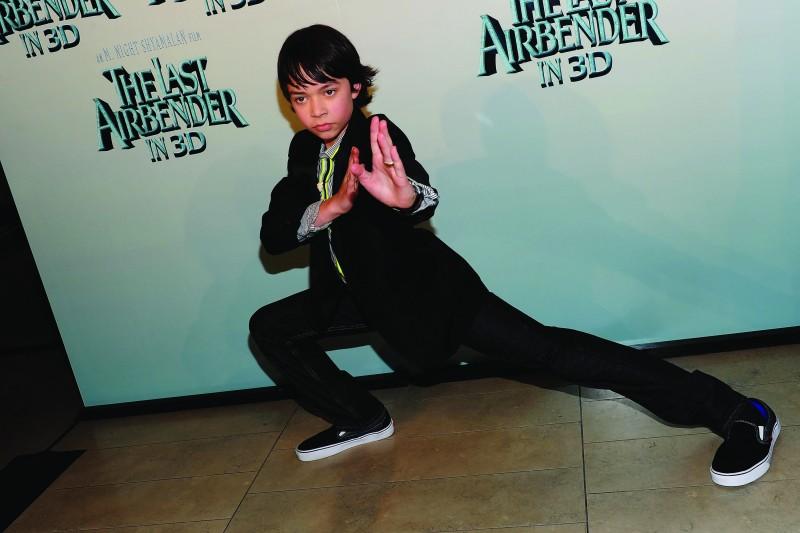 Noah Ringer alla premiere del film The Last Airbender a New York