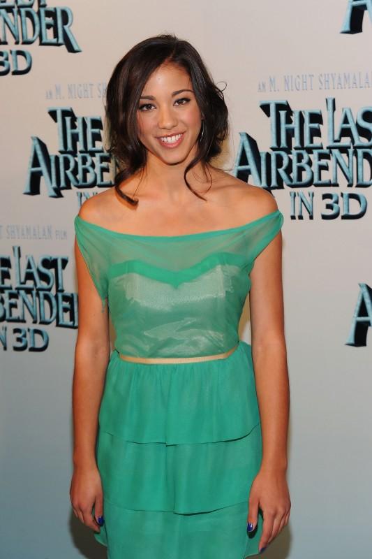 Seychelle Gabriel alla premiere del film The Last Airbender a New York