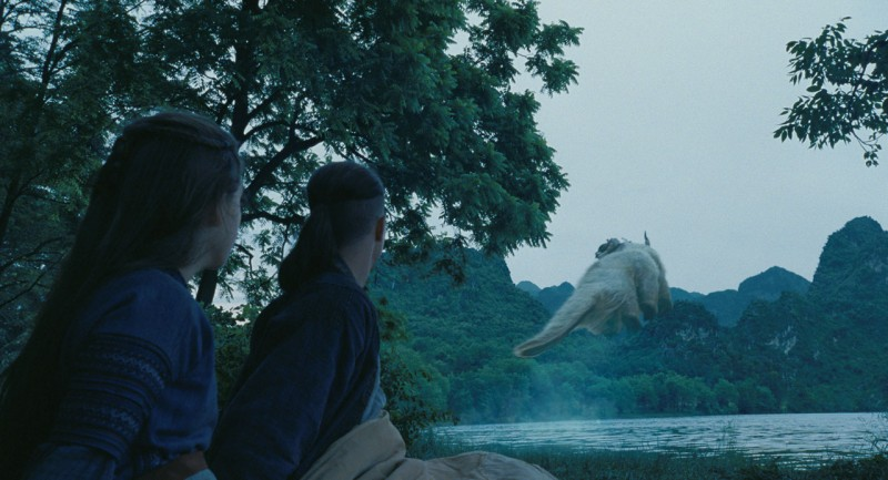 Una spettacolare immagine del film The Last Airbender