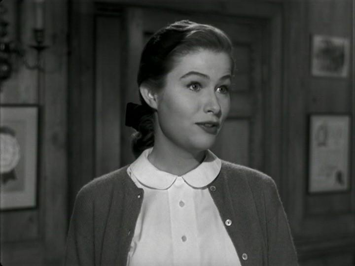 Nancy Olson in una scena del film Viale del tramonto