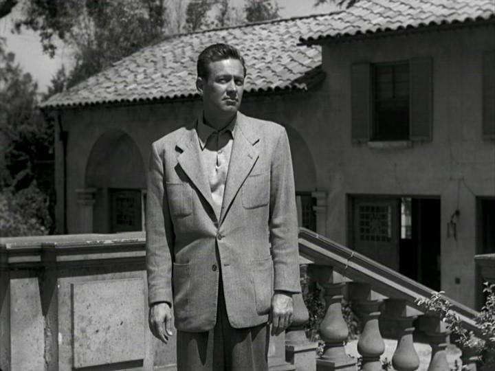 William Holden in una scena del film Viale del tramonto del 1950