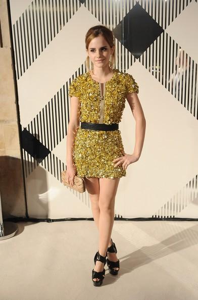 Emma Watson ad un evento fashion promosso da Burberry