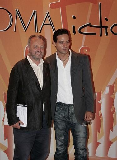 Gabriel Garko al Roma Fiction Fest, nel 2010, accanto a Steve della Casa
