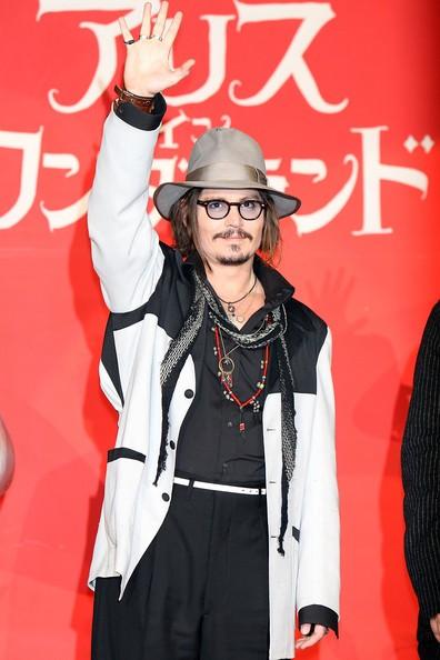 Johnny Depp alla premiere giapponese di Alice in Wonderland