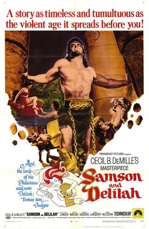 Locandina del film Sansone e Dalila ( 1949 )