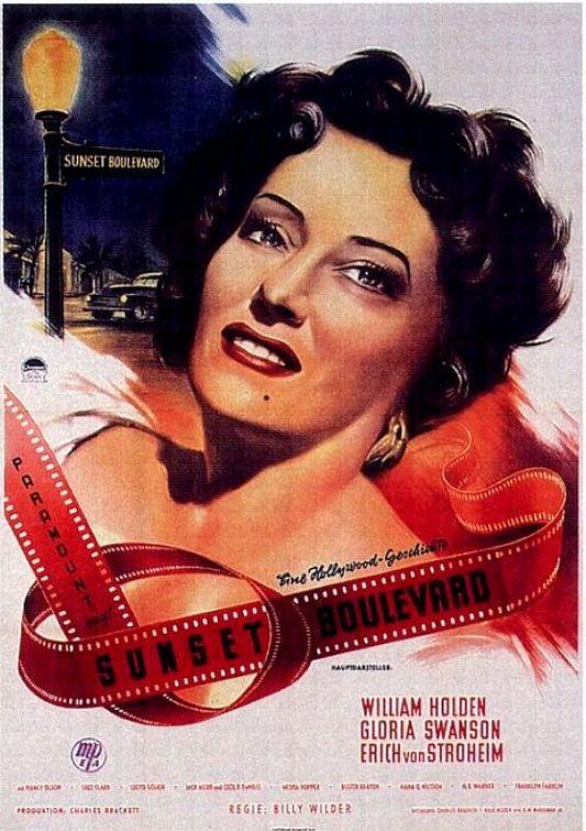 Locandina del film Viale del tramonto ( 1950 )