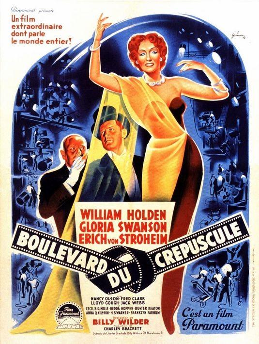Locandina francese del film Viale del tramonto ( 1950 )