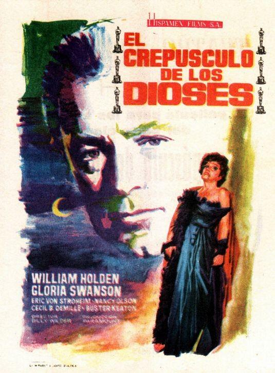 Locandina spagnola del film Viale del tramonto ( 1950 )